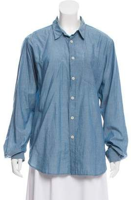 Mhl By Margaret Howell Point Collar Button-Up Top