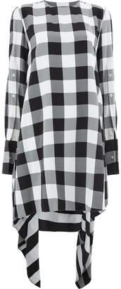 Monse checked asymmetric dress