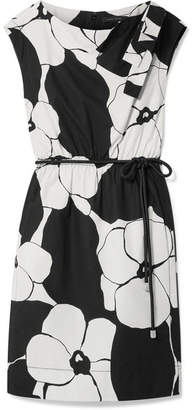 Marc Jacobs Floral-print Cotton-poplin Dress - Black