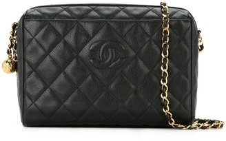 Chanel Pre-Owned quilted logo shoulder bag