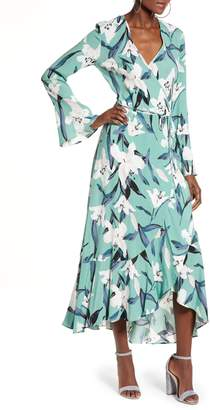 Leith Bell Sleeve Wrap Midi Dress