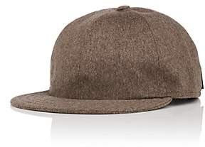 Borsalino MEN'S CASHMERE BASEBALL CAP-BLACK SIZE 71/4