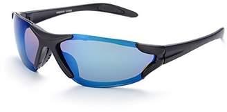 Naivo Unisex YJMH101-2 Polarized Gradient Oceanic Navy Circular Sports Sunglasses