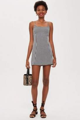 Topshop Petite Gingham Mini Pini Dress