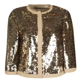 Dolce & Gabbana Gold Glitter Jackets