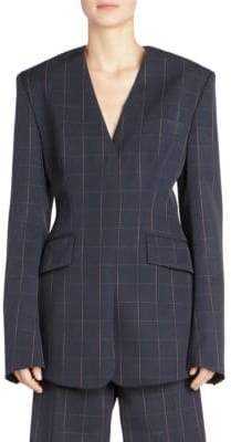 Stella McCartney Audrina Windowpane Check Blazer