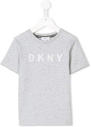 DKNY (ディー ケー エヌワイ) - Dkny Kids logo print T-shirt