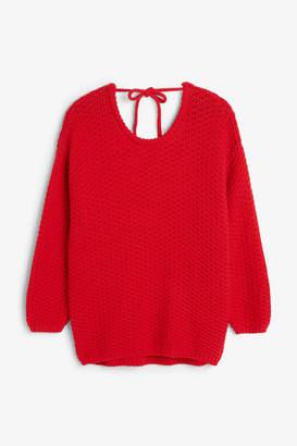 Monki Chunky low back sweater