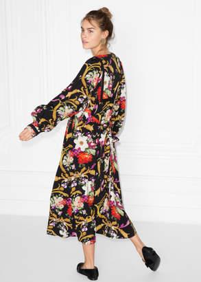Flower Bouquet Print Dress