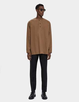 Lemaire Long Sleeve Woven Henley