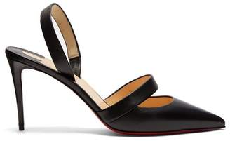 Christian Louboutin Actina 95 Slingback Leather Pumps - Womens - Black