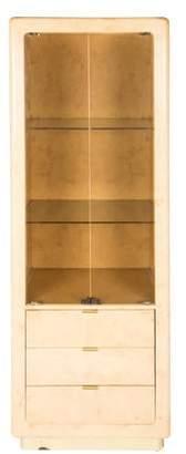 Lacquered Wardrobe w/ Brass Trim