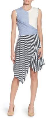 Catherine Malandrino Pattern Mix Asymmetrical Stripe Dress