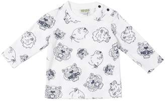 Kenzo Tigers Printed Cotton Jersey T-Shirt