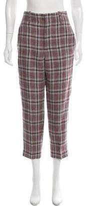Etoile Isabel Marant Checkered Linen Pants