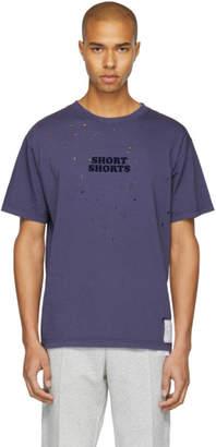 Satisfy Indigo Short Shorts Moth-Eaten T-Shirt
