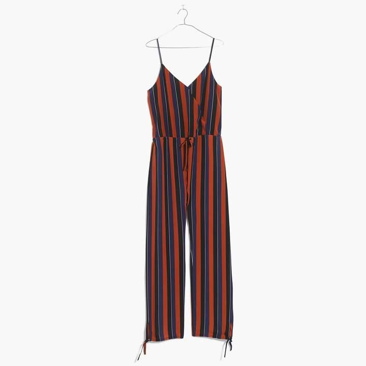 Madewell x No.6 Silk Playa Cami Jumpsuit in Multi-Stripe