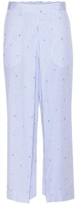 Wood Wood Marion striped wide-leg trousers