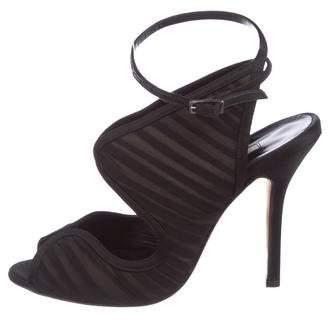 Oscar de la Renta Ruched Cutout Sandals