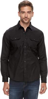 Apt. 9 Men's Brushed Nep 2-Pocket Woven Button-Down Shirt