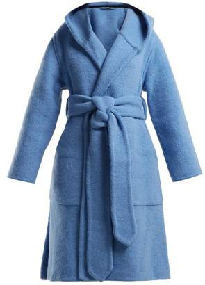 Burberry Dunbridge Alpaca And Wool Blend Coat - Womens - Light Blue