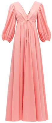 STAUD Amaretti Cotton Poplin Maxi Dress - Womens - Light Pink
