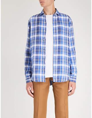 Polo Ralph Lauren Classic-fit checked linen shirt