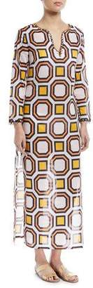 Tory Burch Embellished Maxi Caftan Coverup Dress