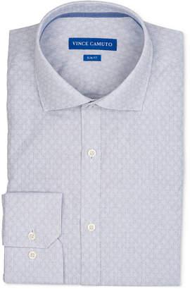 Vince Camuto Men's Slim-Fit Comfort Stretch Patterned Dress Shirt