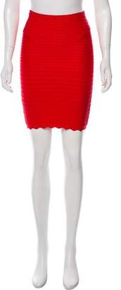 Herve Leger Edie Bandage Skirt