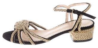 Charlotte Olympia Suede Ankle Strap Sandals