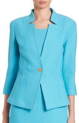 St. John Twill-Knit Blazer $1,295 thestylecure.com