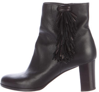Christian Louboutin Christian Louboutin Leather Fringe Ankle Boots