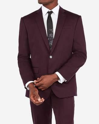 Express Classic Merlot Cotton Sateen Stretch Suit Jacket