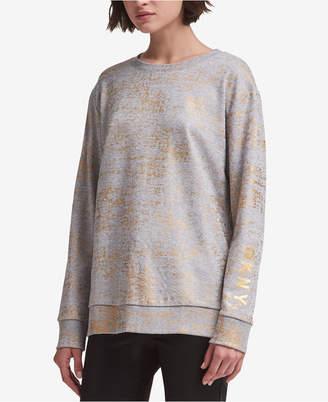 DKNY Metallic-Print Sweatshirt