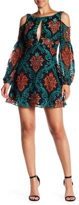 Free People Want to Want Me Cold Shoulder Embroidered Mini Dress
