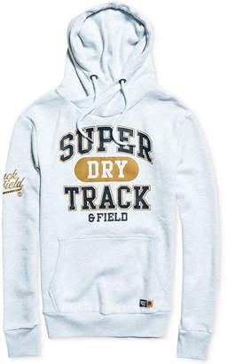 Superdry Men's Super Track Metallic Logo-Print Hoodie