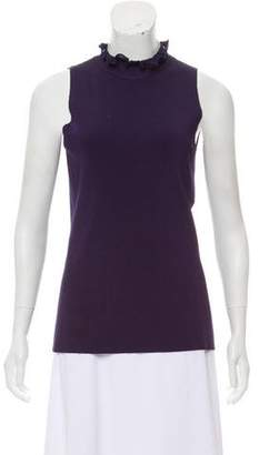 Nina Ricci Sleeveless Rib Knit Top