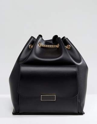 Park Lane Backpack With Chain Straps And Front Pocket