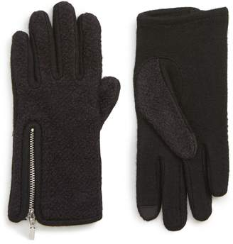 Nordstrom Zip Boucle Touchscreen Gloves