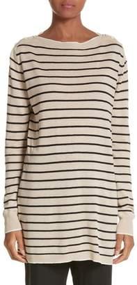 Max Mara Alghero Stripe Silk & Linen Tunic