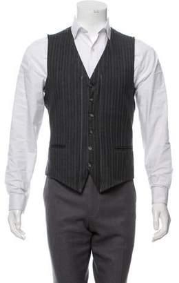 Maison Margiela Wool Pinstripe Suit Vest