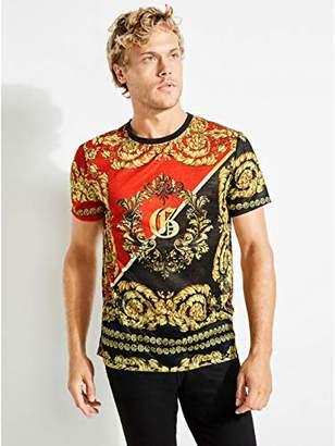 GUESS Men's Short Sleeve Regal Print Crew Neck T-Shirt