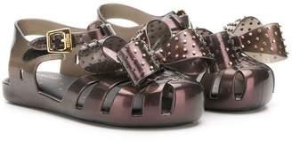 Mini Melissa studded bow details sandals