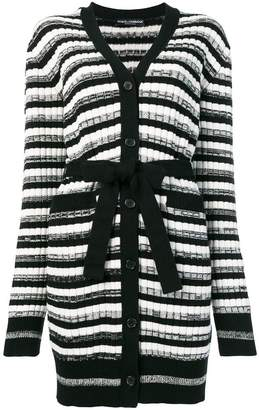 Dolce & Gabbana belted striped cardigan