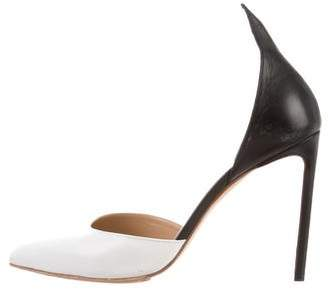 Francesco Russo Pointed-Toe Leather Pumps