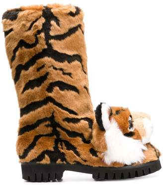Dolce & Gabbana tiger surface boots