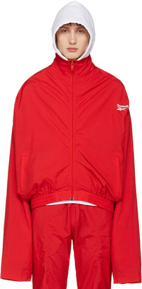 Vetements Red Reebok Edition Chav Track Jacket $990 thestylecure.com