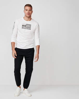 Express Flag Long Sleeve Graphic Tee