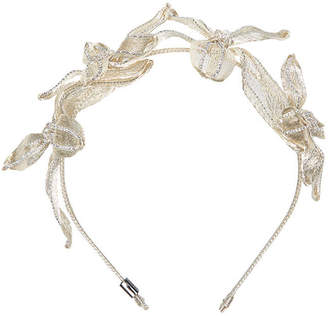 Colette Malouf Mesh Crystal Botanical Headband